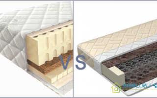 Какой матрас лучше выбрать, пружинный или беспружинный: выбор и сравнительная характеристика изделий