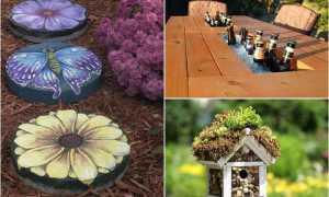 Как украсить двор частного дома своими руками (фото) из ненужных вещей