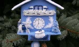 Новогодние часы своими руками для детского сада: фото пошагово 2020