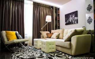 Дизайн гостиной 15 кв. м. — современный интерьер
