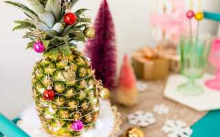 Как хранить ананас до нового года в домашних условиях, в квартире свежим