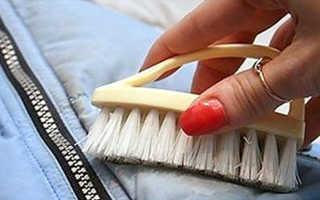 Как почистить пуховик от засалености: нашатырем, без стирки, в домашних условиях