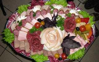 Мясная нарезка в виде елочки, пошаговый рецепт
