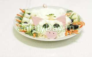 """Салат """"Свинья в огороде"""", рецепт с фото пошагово"""