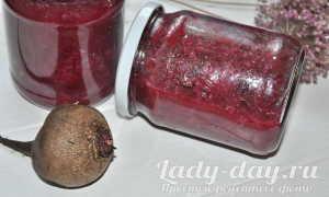 Салат из свеклы с болгарским перцем и с репчатым луком: рецепт на зиму пошагово с фото