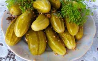 Маринованные огурцы, рецепт на зиму хрустящие сладкие на 1 литр
