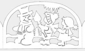 Трафареты на Новый год 2020 для вырезания на окна из бумаги формата А4