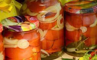 Помидоры дольками с луком и маслом на зиму без стерилизации, рецепт с фото пошагово