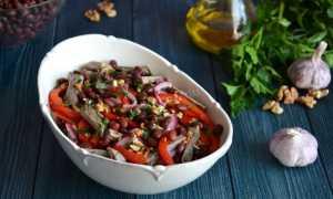 """Салат """"Тбилиси"""" с красной фасолью и говядиной, рецепт с фото пошагово"""