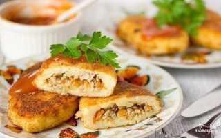 Картофельные зразы с мясным фаршем, рецепт с фото пошагово