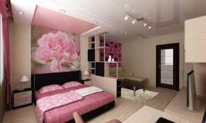 Зонируем гостиную и спальню в одной комнате