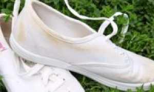 Как стирать белые конверсы, если они пожелтели, без разводов
