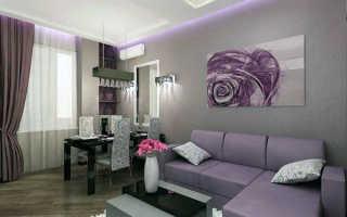 Дизайн интерьера гостиной 19 кв. м