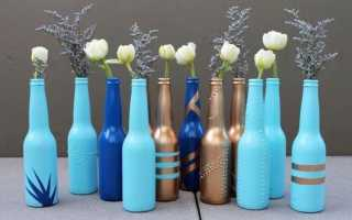 Декор бутылки своими руками: мастер-класс с фото и видео