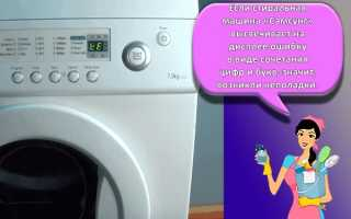 Коды ошибок стиральных машин Samsung: расшифровки ошибок, причины возникновения