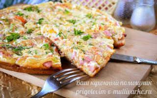 Пицца на сковороде за 10 минут, пошаговый рецепт на кефире с фото