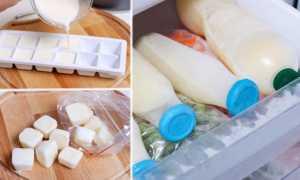 Можно ли заморозить молоко в морозилке: тара, способы, сроки