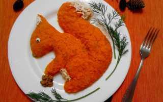 """Салат """"Белочка"""", рецепт с фото с плавленным сыром"""