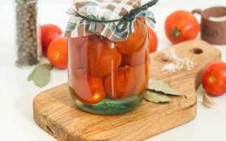 Сладкие помидоры с очень вкусным рассолом в литровых банках на зиму