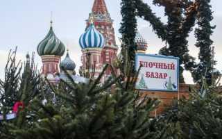 Елочные базары в Москве 2020, адреса, цены