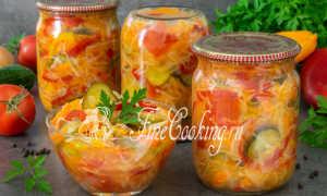 """Салат """"Кубанский"""" на зиму без стерилизации с капустой и огурцами: рецепты"""