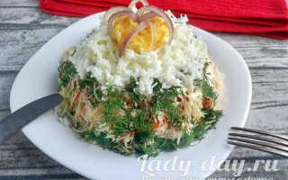 """Салат """"Эдельвейс"""", рецепт с корейской морковью с фото"""