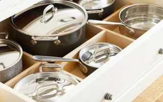 Как хранить крышки от кастрюль и сковородок на кухне: идеи и советы