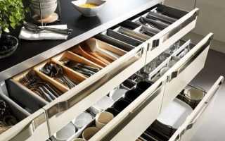Что не нужно хранить в кухонных ящиках: советы