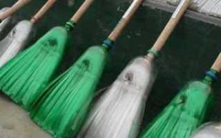 Как сделать метлу из пластиковых бутылок для дачи: фото
