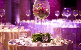 Как украсить зал на свадьбу своими руками: недорого (фото)