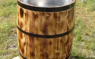 Раковина из бочки для дачи: супер-идея