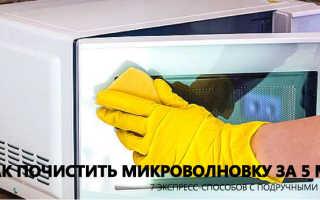 Как почистить микроволновку в домашних условиях за 5 минут