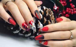 Новогодний маникюр 2020 – фото: ногти на Новый год (видео)