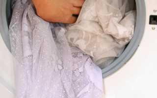 Как стирать тюлевые занавески: в стиральной машине и вручную