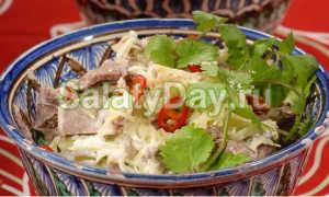"""Салат """"Ташкент"""", рецепт классический из говядины с фото"""