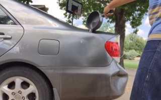 Как выправить вмятину на машине используя только кипяток и вантуз: фото