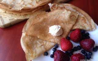 Тесто для блинов на молоке, рецепт классический с фото