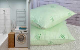 Можно ли стирать подушку из бамбука: в стиральной машине и вручную, как стирать
